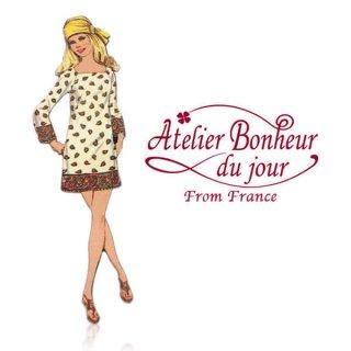 輸入ボタン アトリエ・ボヌール フランス輸入ボタン アトリエ・ボヌール・ドゥ・ジュール【ペイズリーワンピース】