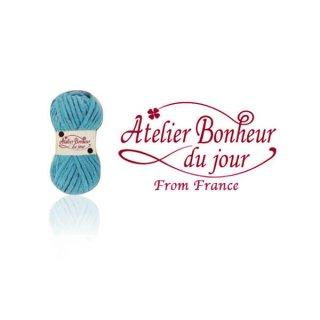 フランス輸入ボタン アトリエ・ボヌール・ドゥ・ジュール【毛糸・Blue】
