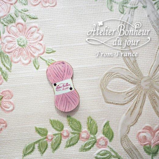 フランス輸入ボタン アトリエ・ボヌール・ドゥ・ジュール【毛糸・Pink】【画像5】