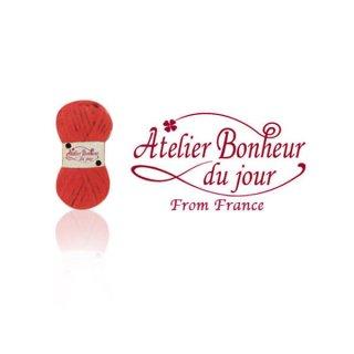 フランス輸入ボタン アトリエ・ボヌール・ドゥ・ジュール【毛糸・Red】