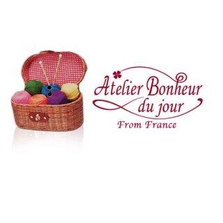 フランス輸入ボタン アトリエ・ボヌール・ドゥ・ジュール【毛糸入りバスケット】