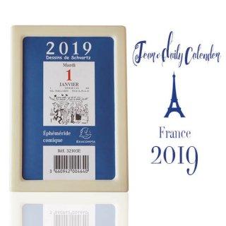 【予約販売】2019年 フランス日めくりカレンダー【10月中旬入荷次第発送】