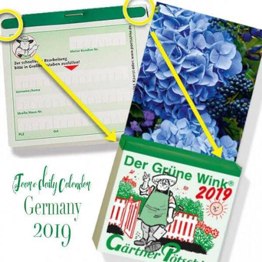 2020年 ドイツ RUNNEN (ブルネン)  ガーデニング 日めくりカレンダー