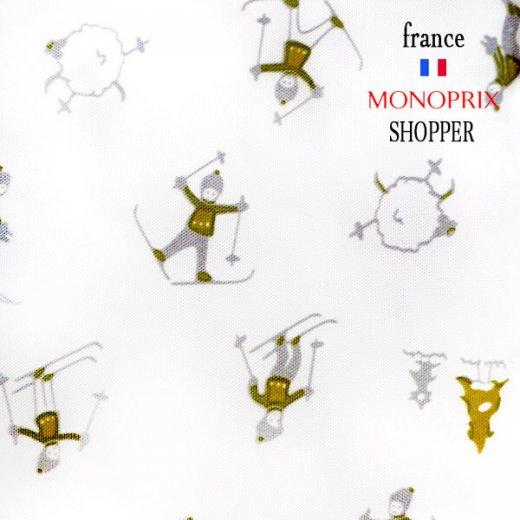 【フランス直輸入!】 MONOPRIX モノプリ 限定エコバッグ【スキー柄】【画像6】