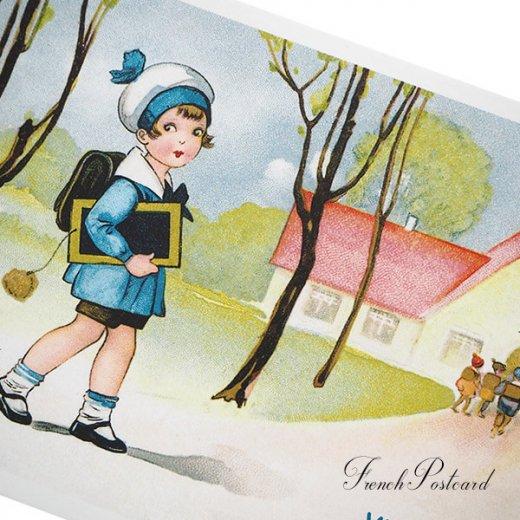 フランス ポストカード  (Vive l'ecole!)【画像3】