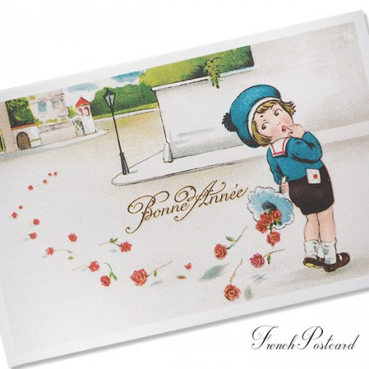 フランス ポストカード  (Bonne Annee I)【画像3】