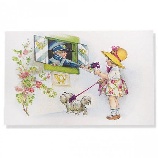 フランス ポストカード  (fleurs printanieres)