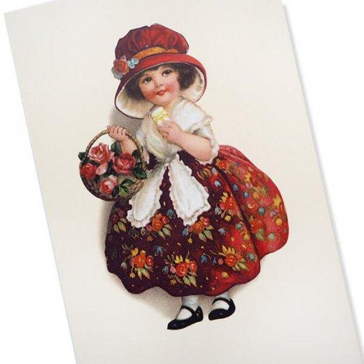 フランス ポストカード  (Panier de roses)【画像2】