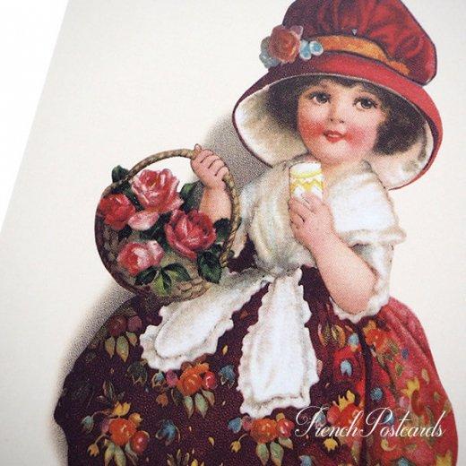 フランス ポストカード  (Panier de roses)【画像3】