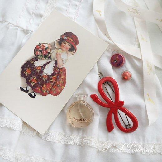 フランス ポストカード  (Panier de roses)【画像4】