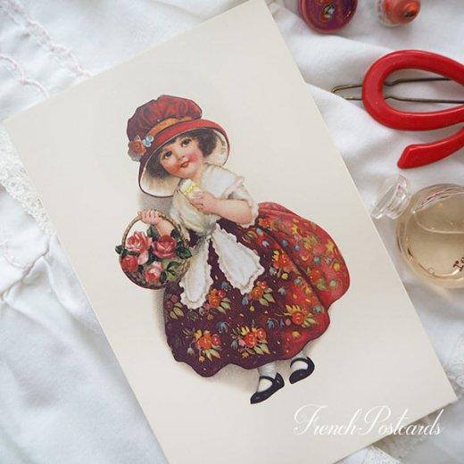 フランス ポストカード  (Panier de roses)【画像5】
