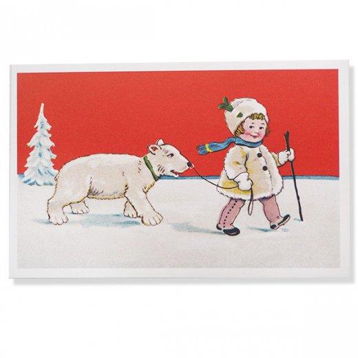 フランス クリスマス ポストカード (Couverture de neige)