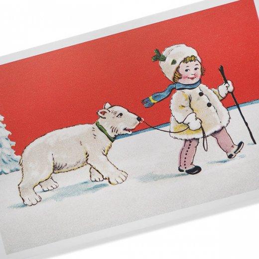 フランス クリスマス ポストカード (Couverture de neige)【画像2】
