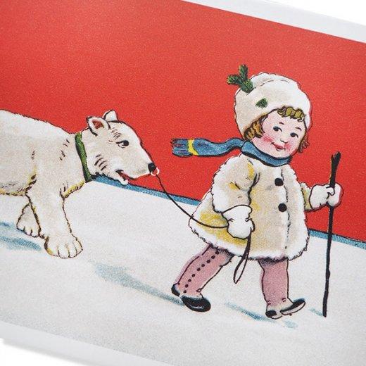 フランス クリスマス ポストカード (Couverture de neige)【画像3】