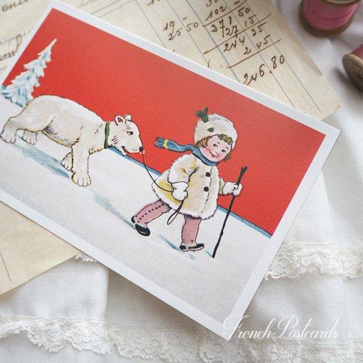 フランス クリスマス ポストカード (Couverture de neige)【画像5】