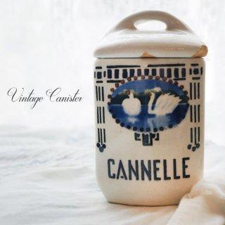 フランス アンティーク キャニスター 白鳥・スワン【CANNELLE/シナモン】