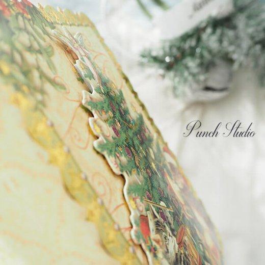 PUNCHSTUDIO クリスマス グリーティングカード ダイカット 【ツリー・猫】【画像6】