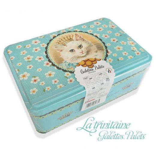 フランス製 ラ・トリニテーヌ ビスケット 猫・キャット柄 TIN缶【レクタンゴータイプ】【画像2】