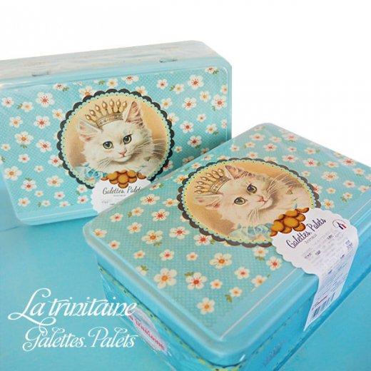 フランス製 ラ・トリニテーヌ ビスケット 猫・キャット柄 TIN缶【レクタンゴータイプ】【画像5】