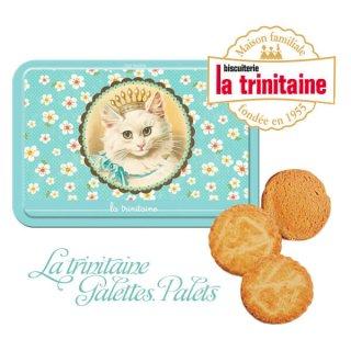 パーティー雑貨 フランス製 ラ・トリニテーヌ ビスケット 猫・キャット柄 TIN缶【レクタンゴータイプ】