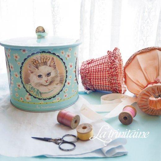 フランス製 ラ・トリニテーヌ ビスケット 猫・キャット柄 TIN缶【ラウンドタイプ】【画像8】
