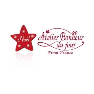 フランス輸入ボタン アトリエ・ボヌール・ドゥ・ジュール【クリスマス・星 NOEL】