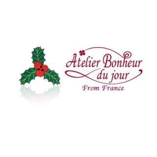 フランス輸入ボタン アトリエ・ボヌール・ドゥ・ジュール【クリスマス・ホリーリーフ】