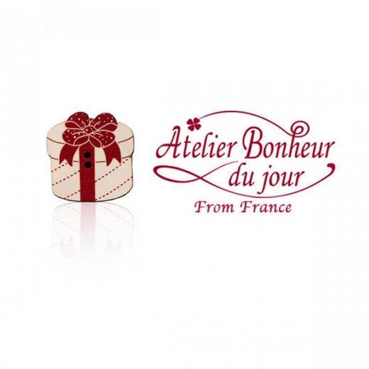 フランス輸入ボタン アトリエ・ボヌール・ドゥ・ジュール【クリスマス・プレゼントラウンド】