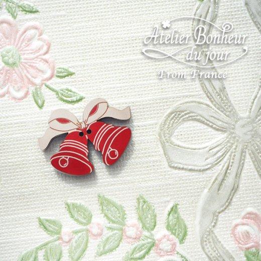 フランス輸入ボタン アトリエ・ボヌール・ドゥ・ジュール【クリスマス・リボンベル】【画像5】
