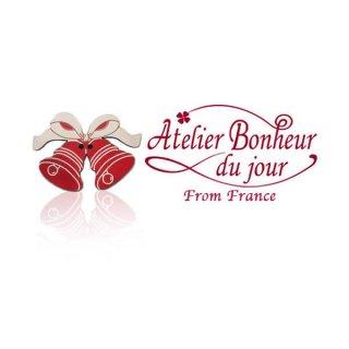 フランス輸入ボタン アトリエ・ボヌール・ドゥ・ジュール【クリスマス・リボンベル】
