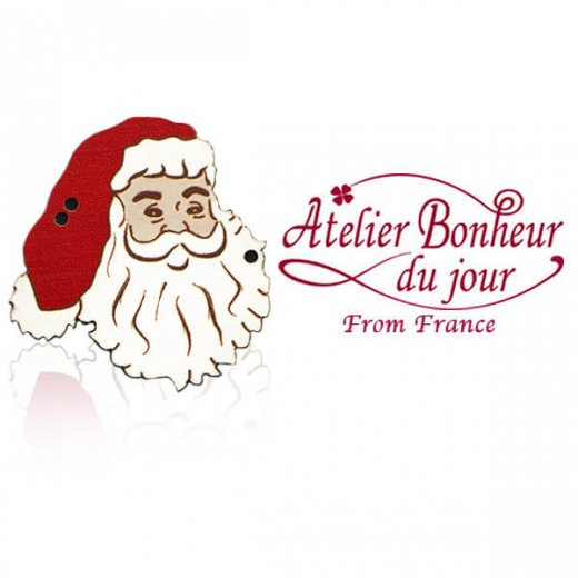 フランス輸入ボタン アトリエ・ボヌール・ドゥ・ジュール【クリスマス・サンタクロース】