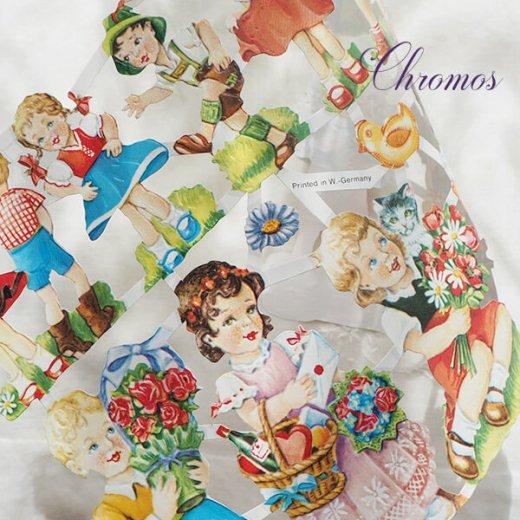 ドイツ クロモス【M】花と幼子 B【画像5】