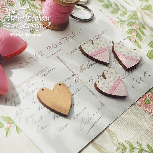 フランス輸入ボタン アトリエ・ボヌール・ドゥ・ジュール【花柄 ハート pink】【画像4】