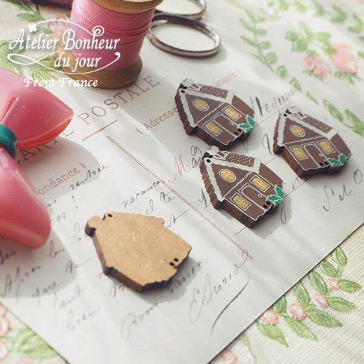 フランス輸入ボタン アトリエ・ボヌール・ドゥ・ジュール【お菓子のお家】【画像3】