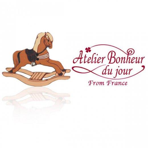 フランス輸入ボタン アトリエ・ボヌール・ドゥ・ジュール【ロッキングホース 木馬】