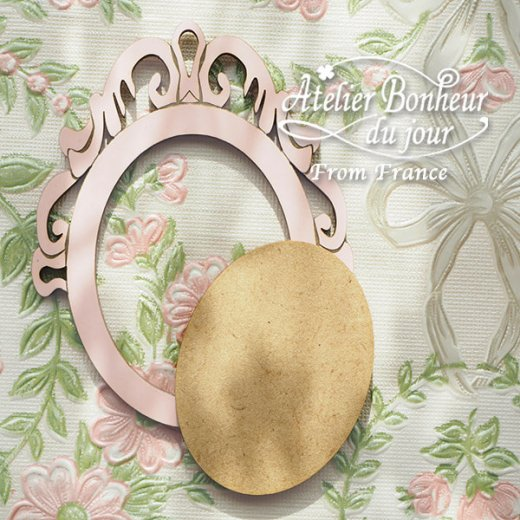 フランス輸入ボタン アトリエ・ボヌール・ドゥ・ジュール【クラシックフレーム ピンク】【画像6】
