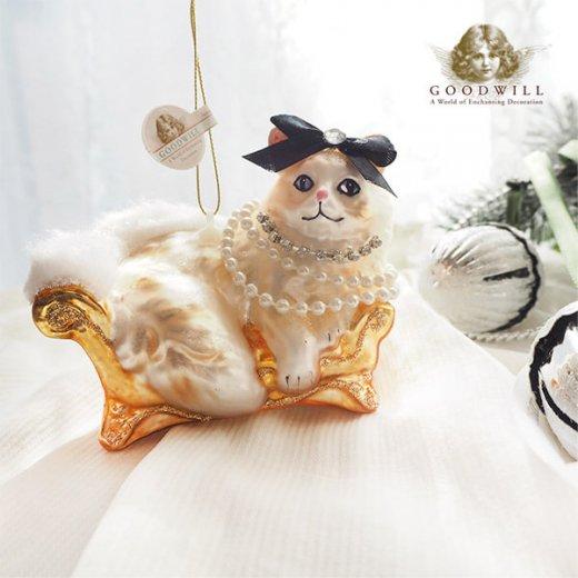 グッドウィル GOODWILL ベルギー直輸入 オーナメント 【ル シャ ブラン Le chat blanc】クリスマス・バレンタインデー【画像4】