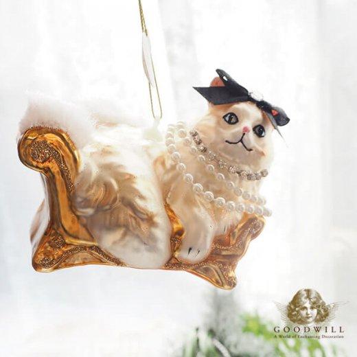 グッドウィル GOODWILL ベルギー直輸入 オーナメント 【ル シャ ブラン Le chat blanc】クリスマス・バレンタインデー【画像5】