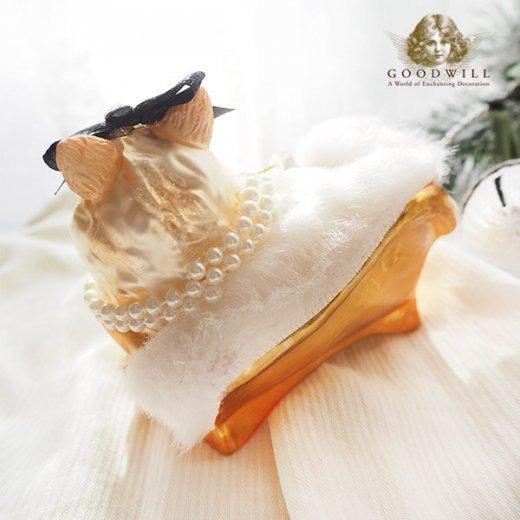 グッドウィル GOODWILL ベルギー直輸入 オーナメント 【ル シャ ブラン Le chat blanc】クリスマス・バレンタインデー【画像6】
