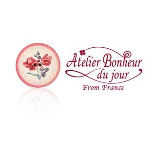 フランス輸入ボタン アトリエ・ボヌール・ドゥ・ジュール【バラのボタン 二輪】