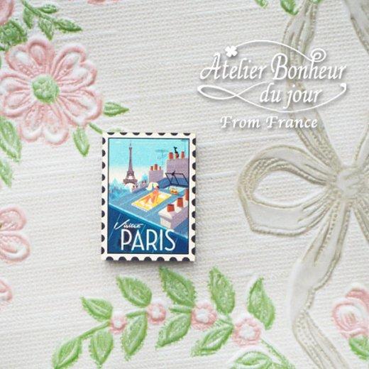 フランス輸入ボタン アトリエ・ボヌール・ドゥ・ジュール【PARIS切手】【画像5】