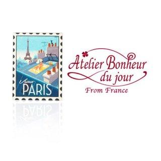 フランス輸入ボタン アトリエ・ボヌール・ドゥ・ジュール【PARIS切手】