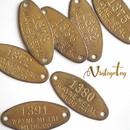 【単品売り】アメリカ 1950年代 アンティーク タグ オーバル プレート(手芸素材/手芸用品)【画像5】
