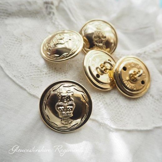 【単品売り】デッドストック ヴィンテージ イギリス ボタン 紋章(手芸素材/手芸用品)