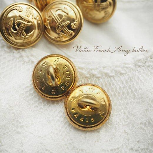 【単品売り】フランス 1950年代 メタル ボタン Sサイズ Marine Nationale 紋章 15mm(手芸素材/手芸用品)【画像2】
