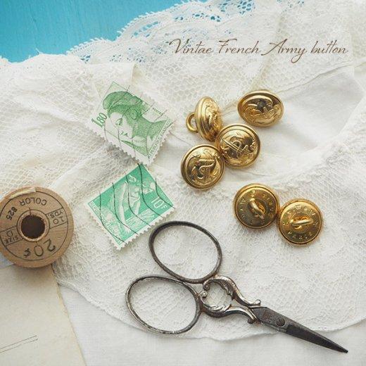 【単品売り】フランス 1950年代 メタル ボタン Sサイズ Marine Nationale 紋章 15mm(手芸素材/手芸用品)【画像4】