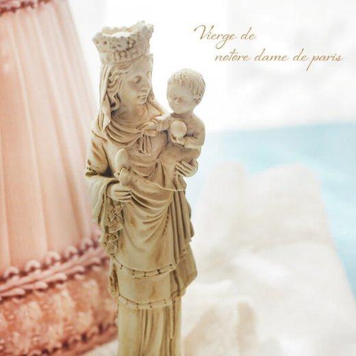 フランス直輸入 聖母子像 【Sサイズ】聖母マリア オブジェ ノートルダム大聖堂 寺院 スーベニア Notre-Dame de Paris souvenir【画像2】