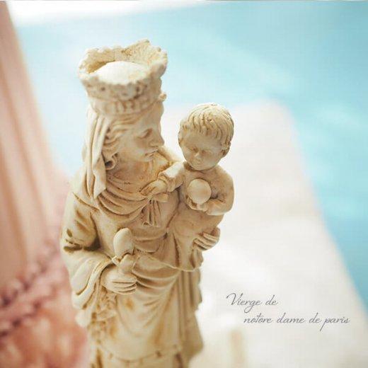 フランス直輸入 聖母子像 【Sサイズ】聖母マリア オブジェ ノートルダム大聖堂 寺院 スーベニア Notre-Dame de Paris souvenir【画像4】