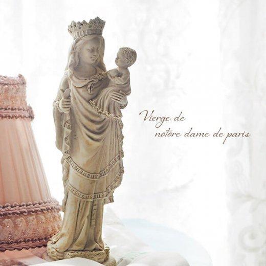 フランス直輸入 聖母子像 【Mサイズ】聖母マリア オブジェ ノートルダム大聖堂 寺院 スーベニア Notre-Dame de Paris souvenir