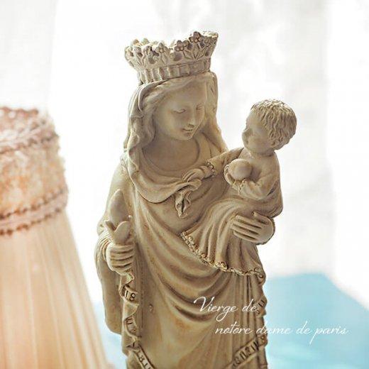 フランス直輸入 聖母子像 【Mサイズ】聖母マリア オブジェ ノートルダム大聖堂 寺院 スーベニア Notre-Dame de Paris souvenir【画像2】